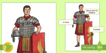 Imágenes de exposición: Soldado romano - mural, exponer, recortar, sociales, ciencias, romanos, soldado, etiquetas, exposición, murales, dec
