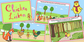 Chicken Licken Story - chicken licken, story books, stories