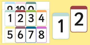 Number Cards 0-10 - number cards, numbers, 0-10, cards, number