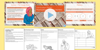 Punctuation in Action PowerPoint Pack - SPAG, Punctuation, starters, Punctuation for Effect Activities, KS3