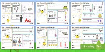 Year 1 Summer Term 2 SPaG Activity Mats - KS1, Key Stage 1, key stage one, year 1, Y1, year one, SPaG, spelling, punctuation, grammar, reading