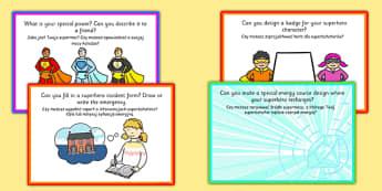 Superhero Role Play Challenge Cards Polish Translation - polish, superhero, role-play, challenge, cards