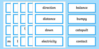 Smooth Moves Word Wall Display Cards - australia, Australian Curriculum, Smooth Moves, science, Year 4, word wall, display