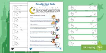 Ramadan Decorations Paper Chain Activity - Ramadan, Eid, Eid-ul-fitr, Eid ul fitr, muslim, islam, qur'an, assembly, ks1, key stage one, key s