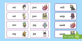 Phase 3 Real and Nonsense Words Word Cards - phase 3, real, nonsense, real and nonsense, words, real and nonsense words, word cards, word, cards, phase three, phase, 3, three