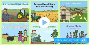 On the Farm Songs and Rhymes PowerPoints Pack - On the Farm, farming, PowerPoints, singing, song time, growing, agriculture, farm animals