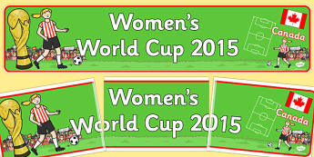 Womens World Cup 2015 Display Banner - display, banner, womens