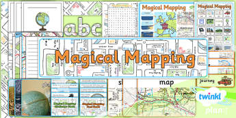PlanIt - Geography Year 2 - Magical Mapping Unit Additional Resources - maps, planning, geography, year 2, y 2, ks1, key stage 1, plans, lessons, lesson, unit, pack, 2014, curriculum, maps, word search, display, banner, poster, cards, facts, challeng