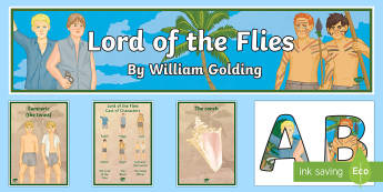 Lord of the Flies Display Pack - Lord of the Flies, William Golding, Modern Prose, GCSE English, Display Pack, Symbols and Images, Sy