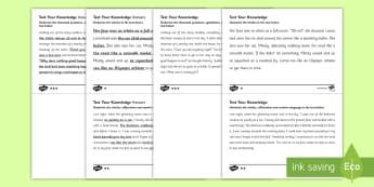 Identifying Features of Language KS2 - language, ks2, features