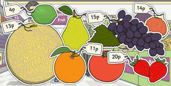 Priced Pieces of Fruit Mixed Up to 20p - fruit, mixed, price, 20p