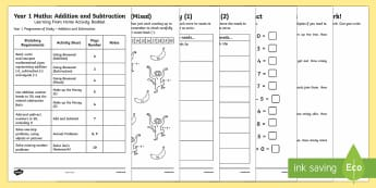 Year 1 Maths Addition and Subtraction Learning from Home Activity Booklet