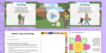 Mother's Day Creativity Lesson Pack - KS1 Mother's Day UK, Mother's Day, KS1, special person, art, poetry, poems, craft, card, project,
