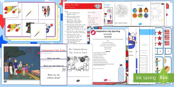 Independence Day Early Childhood Activity Pack - Independence Day, july 4th, 4th of July, declaration of independence, USA, Fireworks