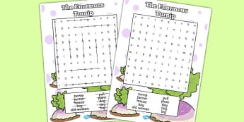 The Enormous Turnip Wordsearch - wordsearch, enormous, turnip