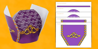 Chinese New Year Emperors Hat Paper Craft - chinese new year, emperors, hat