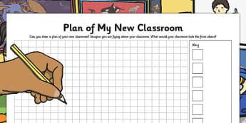 Plan of My New Classroom - plan, new classroom, new, classroom