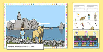 Silly L Sentences Cut and Stick Pictures - silly l, sentence, cut and stick, pictures