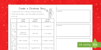 Create a Christmas Story Writing Activity Sheet