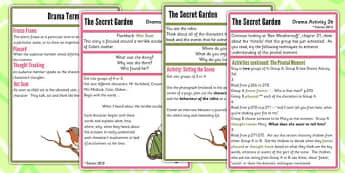 The Secret Garden Drama Activities - secret garden, activity