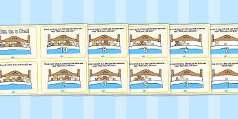 Ten in a Bed Sequencing (4 per A4) - Ten in a Bed, 10 in a bed, nursery rhyme, sequencing, rhyme, rhyming, nursery rhyme story, nursery rhymes, counting rhymes, counting backwards, subtraction, one less than, Three in a Bed resources