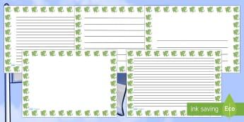 St Georges Dragon Landscape Page Borders- Landscape Page Borders - Page border, border, writing template, writing aid, writing frame, a4 border, template, templates, landscape