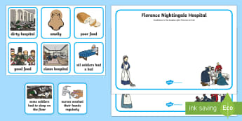 KS1 Florence Nightingale Hospital Sorting Activity Sheet - EYFS,KS1, Florence Nightingale's Birthday,12.5.17, florence nightingale, Worksheet, Florence Nighti
