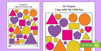 2D Shapes I Spy With My Little Eye Activity - 2d shapes, i spy, i spy with my little eye, eye, activity