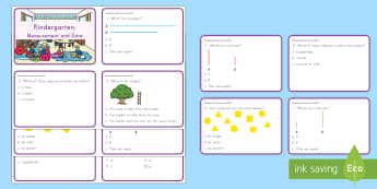 Kindergarten Measurement and Data Digital Assessment Practice Activity - assessment, review, measurement and data, practice,