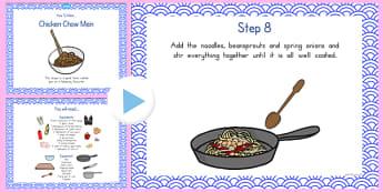 Chicken Chow Mein Recipe PowerPoint - australia, recipe, chicken