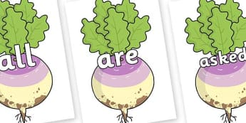 Tricky Words on Enormous Turnip - Tricky words, DfES Letters and Sounds, Letters and sounds, display, words