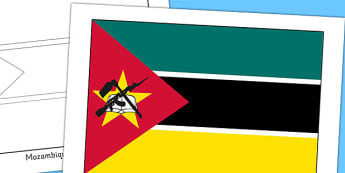 Mozambique Flag Display Poster - countries, geography, display