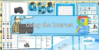 PlanIt - Computing Year 2 - Using the Internet Additional Resources - Y2 PlanIt Computing Using the Internet, internet, safety, search, web, world wide, www, chrome, expl