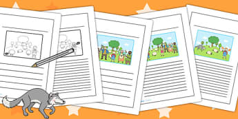 The Boy Who Cried Wolf Story Writing Frames - aesops fables