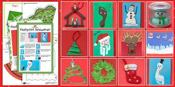 Christmas Holiday Craft Pack - christmas, holiday, craft, pack