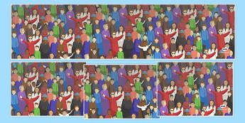 Crowd Small World Background - crowd, small world, background