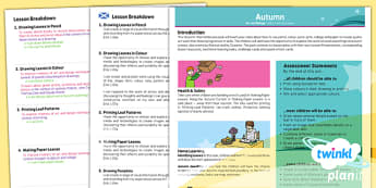 PlanIt - Art LKS2 - Autumn Planning Overview CFE - Art, art and design, autumn, season, KS2, year 3, year 4