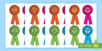 Sports Day Award Rosettes English/Polish - Sports day award rosettes, reward, sports day, award, rosette, certificate, medal, rewards, school r