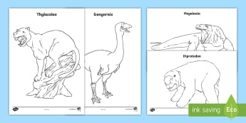 Australian Megafauna Colouring Pages - Australian Curriculum Biological sciences, ACSSU017, megafauna, Australian dinosaurs, dinosaurs and