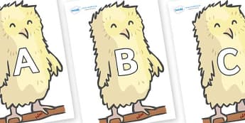 A-Z Alphabet on Owl Babies - A-Z, A4, display, Alphabet frieze, Display letters, Letter posters, A-Z letters, Alphabet flashcards