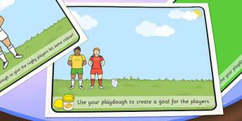 Rugby Playdough Mats - rugby, playdough mats, playdough, mat