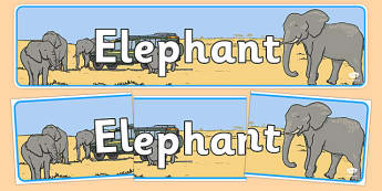 Elephant Display Banner - elephants, display, banner, safari, africa, animals, wild, wildlife, banner, sign
