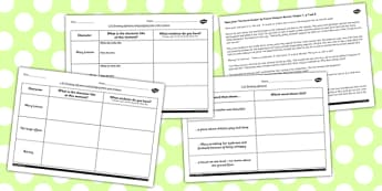 The Secret Garden Inferences Activity Sheets - secret, worksheet