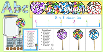 Five Lollipops Display Pack - nz, new zealand, five lollipops, display pack