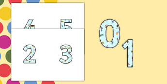 Roald Dahl Small Display Numbers - Roald Dahl, Display Numbers, Roald Dahl Display Numbers, Small Display Numbers