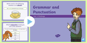 Year 4 Grammar and Punctuation Challenge PowerPoint - Year 4 Grammar and Punctuation Challenge Cards - grammar, punctuation, cards, year 4, spag, english,