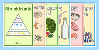 Biaphirimid Display Posters - gaeilge, display, irish, bia, biaphirimd, food pyramid, healthy eating, science, SPHE, food