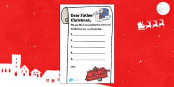 Letter to Father Christmas Present List - letter, father christmas, present list