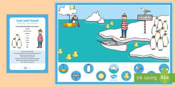 Can you Find...? Poster and Prompt Card Pack - Lost and Found, Oliver Jeffers, polar regions, penguin, ice, polar, snow