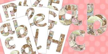 The Tale of Mrs Tiggy Winkle Display Lettering - mrs tiggy winkle